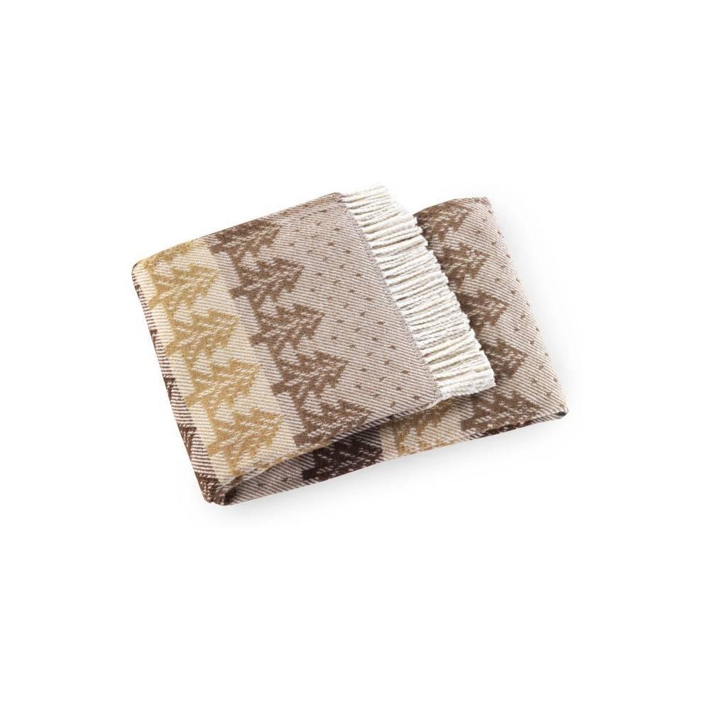 Euromant Hnedý pléd s podielom bavlny Euromant Moss, 140×180 cm