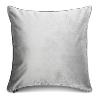 Obliečka na vankúš v striebornej farbe WeLoveBeds Silver, 50×50 cm