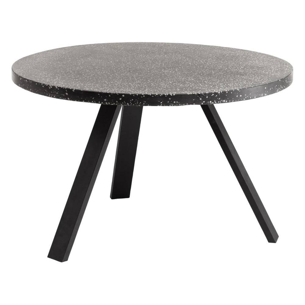 La Forma Čierny jedálenský stôl La Forma Shanelle, ⌀ 120 cm