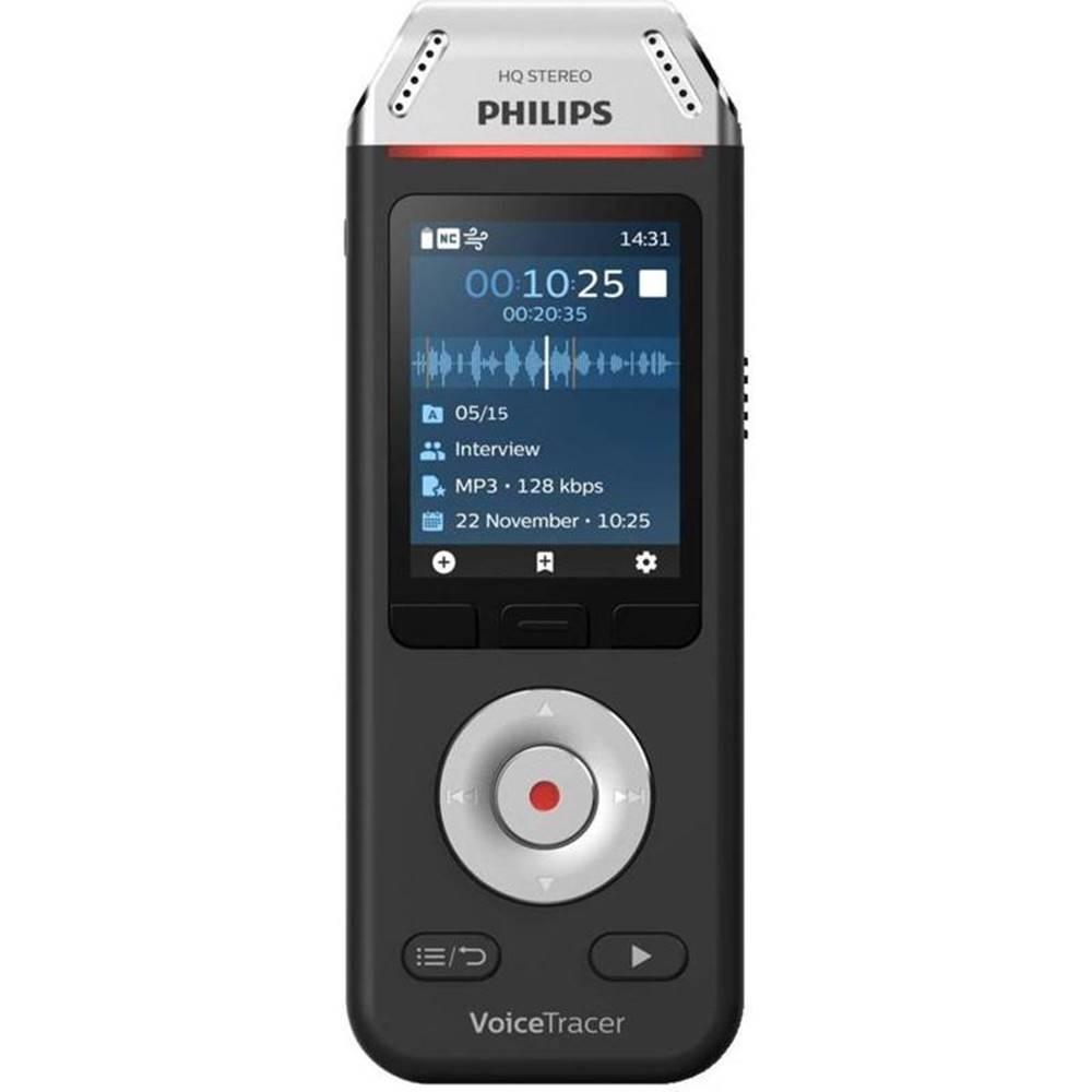 Philips Diktafón Philips DVT2110 čierny/strieborn
