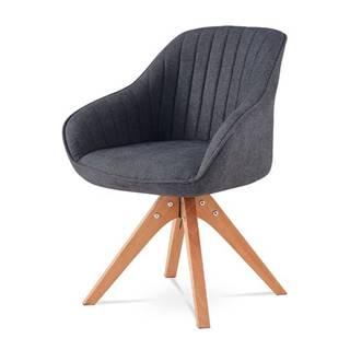 Jedálenská stolička CHIP sivá látka/buk