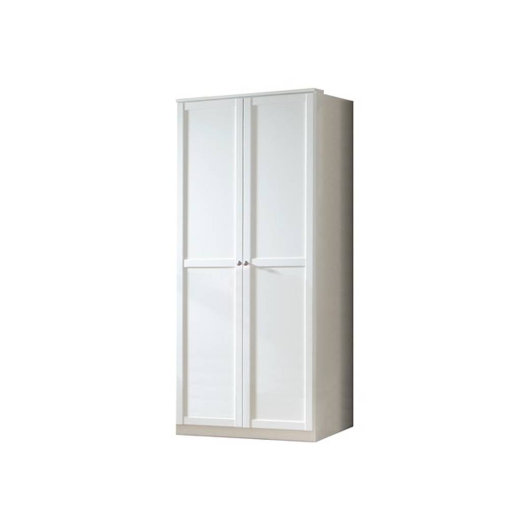 Sconto Šatníková skriňa VANNES biela, 2-dverová