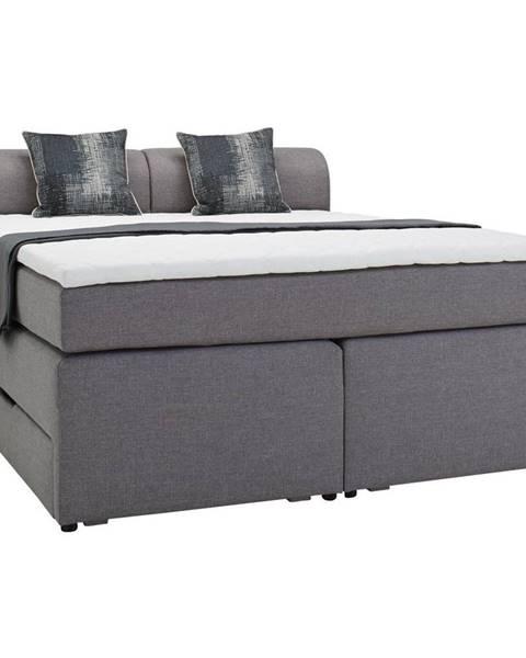 Sivá posteľ Möbelix