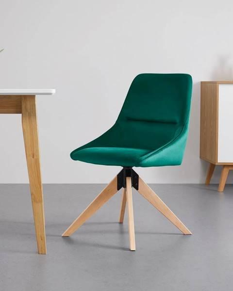 Zelená stolička Möbelix