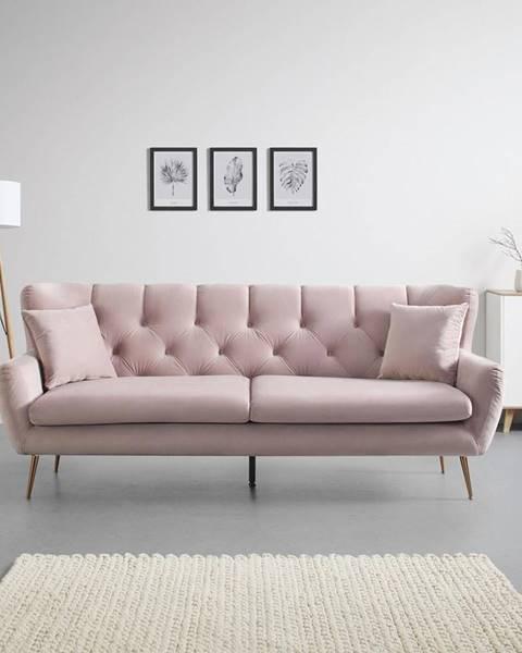 Ružová pohovka Möbelix