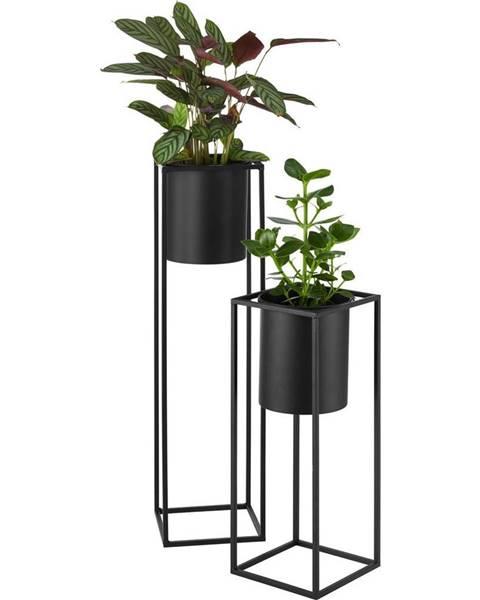 Čierny kvetináč Möbelix
