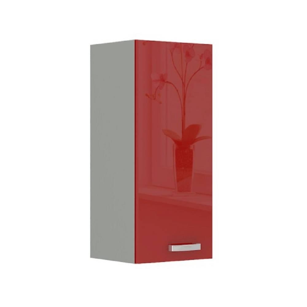 Tempo Kondela Skrinka horná červený vysoký lesk PRADO 30 G-72