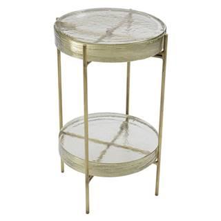 Odkladací stolík v zlatej farbe Kare Design Ice Double, ø 30 cm