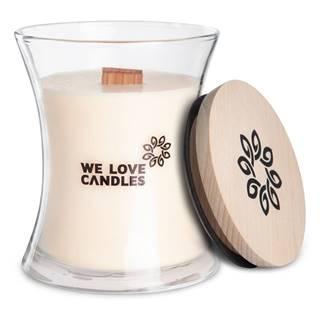 Sviečka zo sójového vosku We Love Candles Ivory Cotton, doba horenia 129 hodín