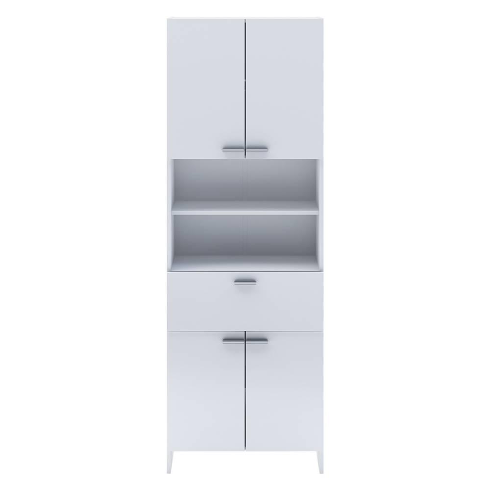 IDEA Nábytok Vysoká skrinka 4 dvere + 1 zásuvka KORAL biela