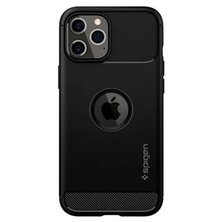 Kryt na mobil Spigen Rugged Armor na Apple iPhone 12 Pro Max čierny