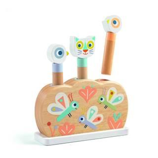 Drevená hračka s vyskakujúcimi zvieratkami Djeco