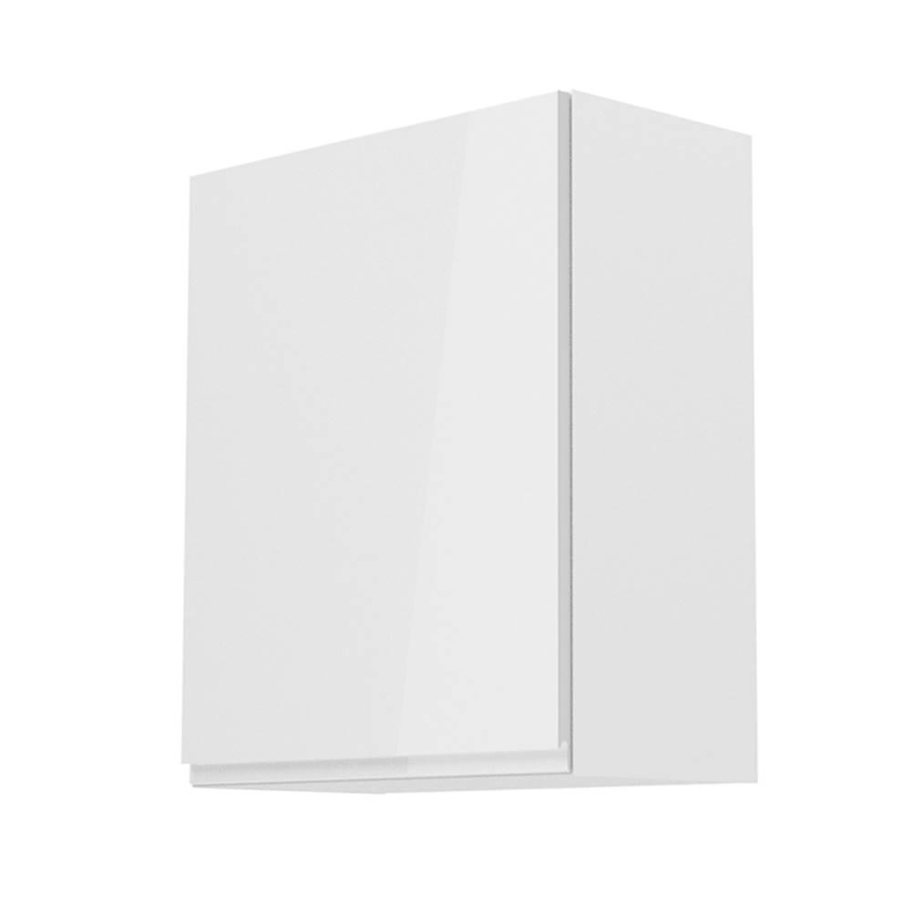 Tempo Kondela Horná skrinka biela/biely extra vysoký lesk ľavá AURORA G601F