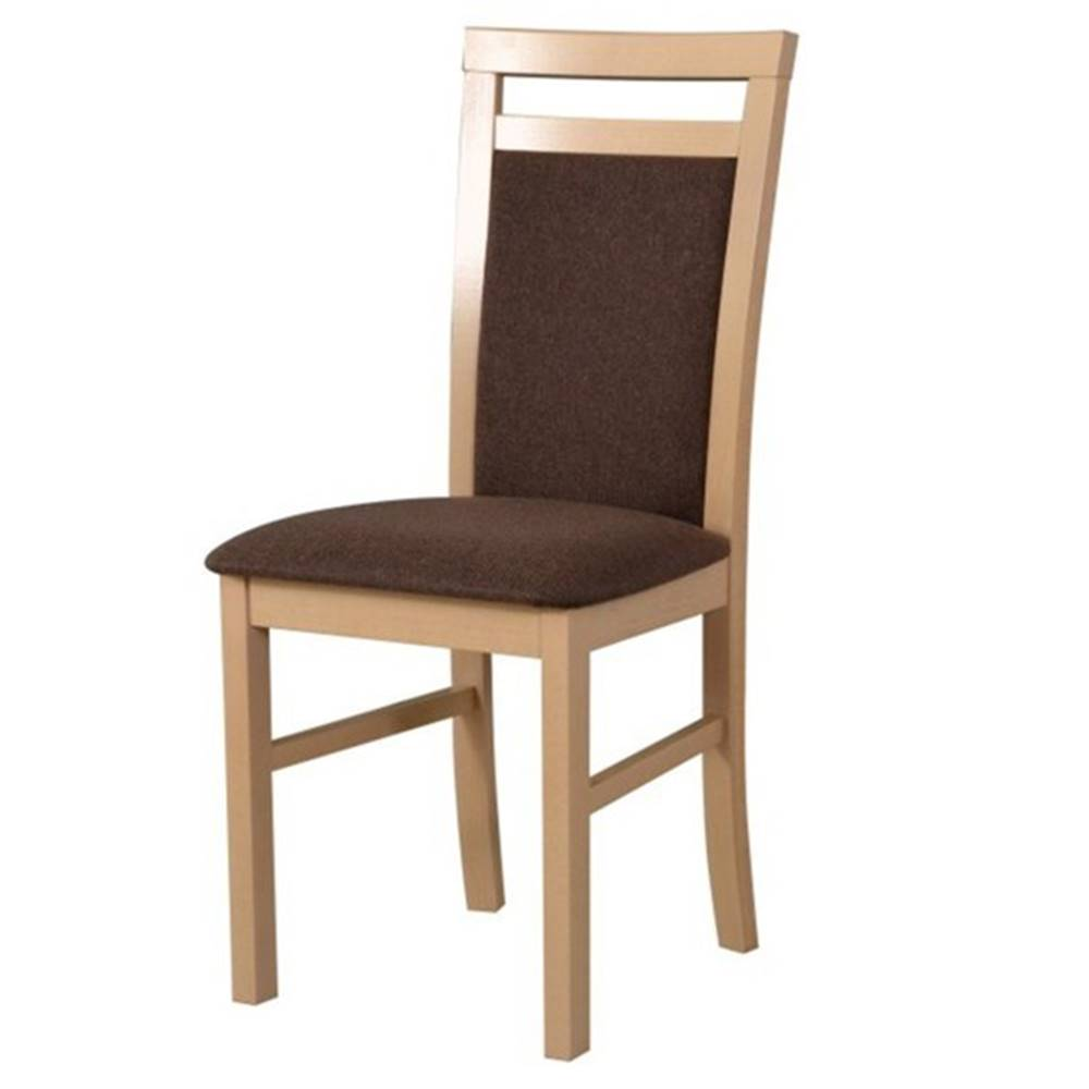 Sconto Jedálenská stolička MILAN 5 sonoma/hnedá