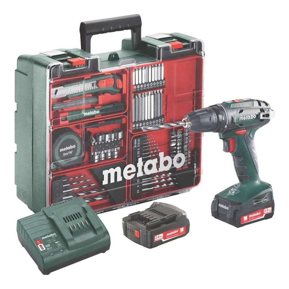 Metabo Aku vŕtačka Metabo BS 14.4 Set MD 602206880 zelen