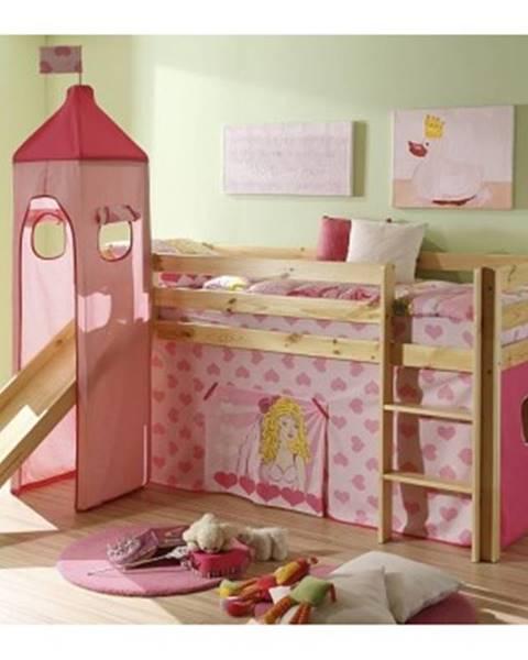 Ružová posteľ ASKO - NÁBYTOK