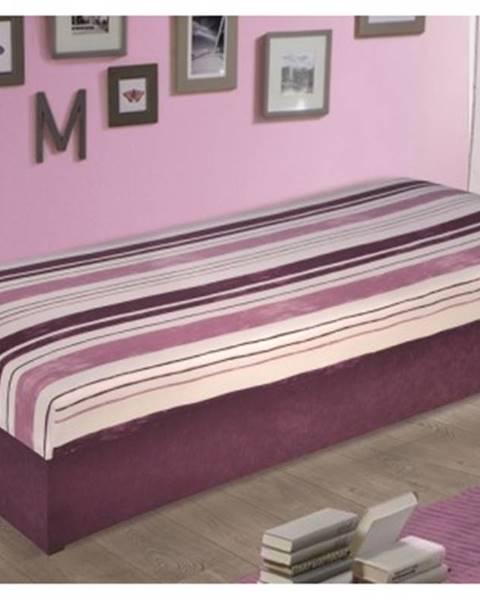 Fialová posteľ ASKO - NÁBYTOK