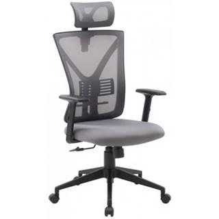 Kancelárska stolička Image, šedá látka