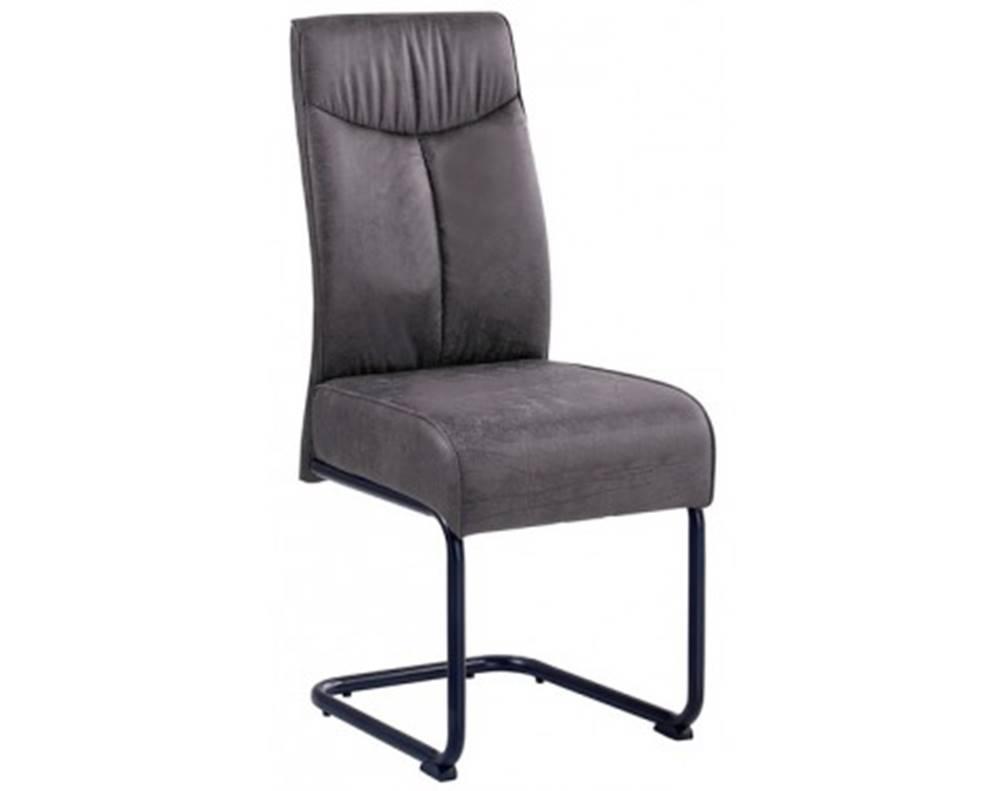 ASKO - NÁBYTOK Jedálenská stolička York, tmavo šedá vintage látka