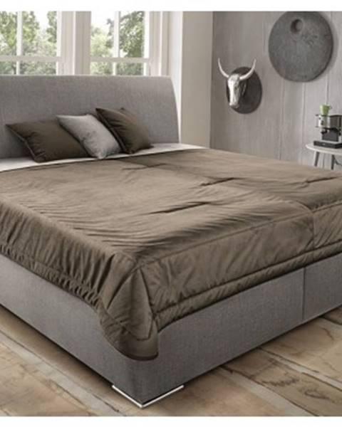 Béžová posteľ ASKO - NÁBYTOK
