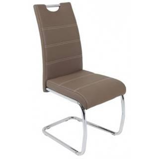 Jedálenská stolička Flora, latté ekokoža