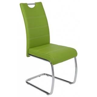Jedálenská stolička Flora, zelená ekokoža