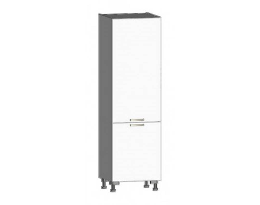 ASKO - NÁBYTOK Kuchynská skriňa pre vstavanú chladničku One CHU, biely lesk, šírka 60 cm
