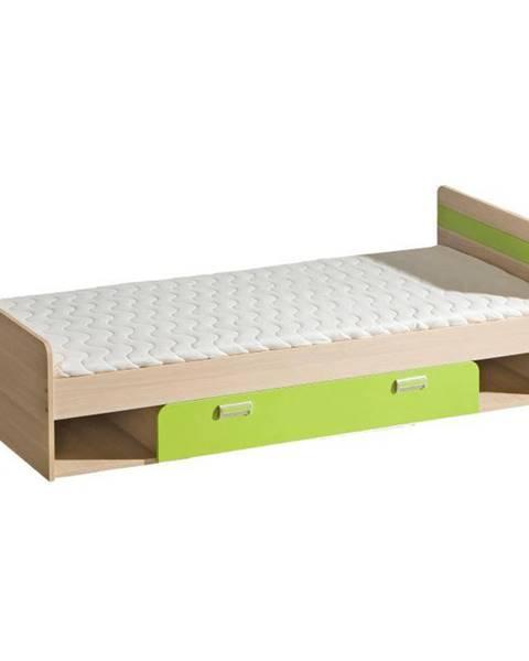 Zelená posteľ Tempo Kondela