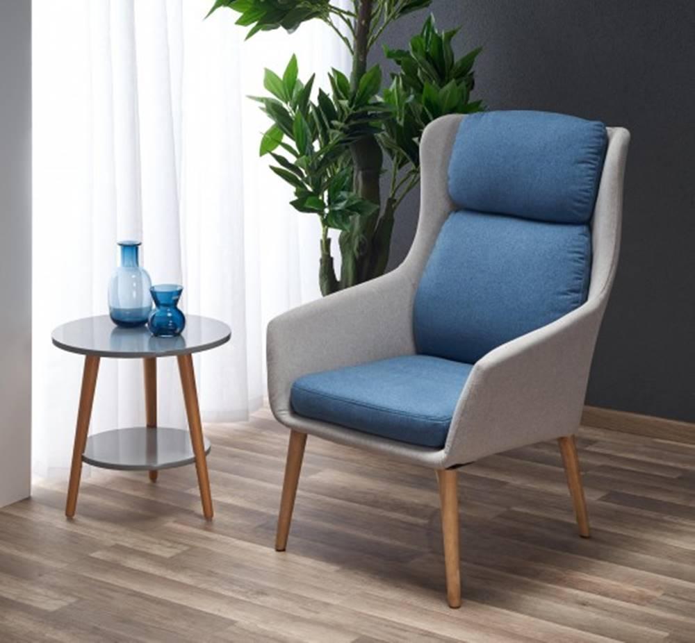 OKAY nábytok Kreslo Purio sivá, modrá