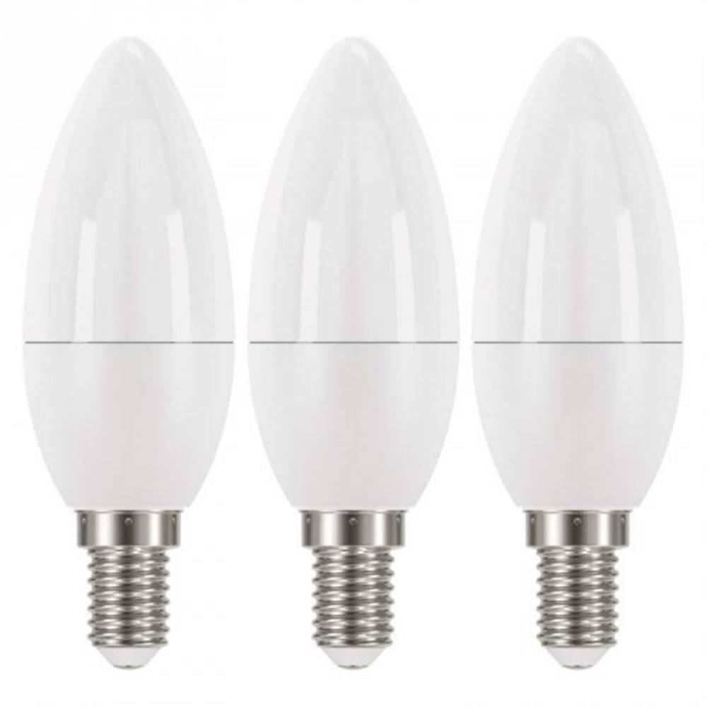 EMOS LED žiarovka Emos ZQ32203, E14, 6W, sviečka, teplá biela, 3ks