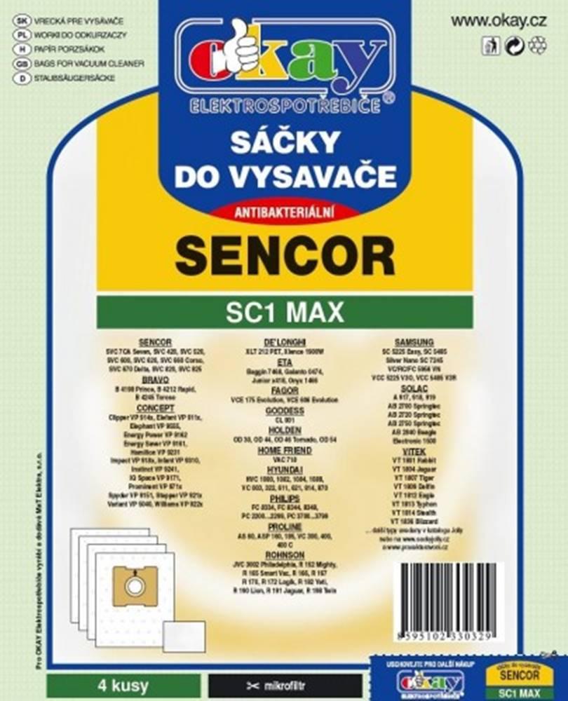 Jolly Vrecká do vysávača Sencor SC1 MAX, 8ks