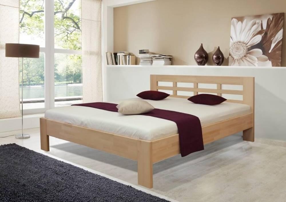 OKAY nábytok Drevená posteľ Vegas 2, 180x200 vr. výkl.roštu a úp,bez matracov