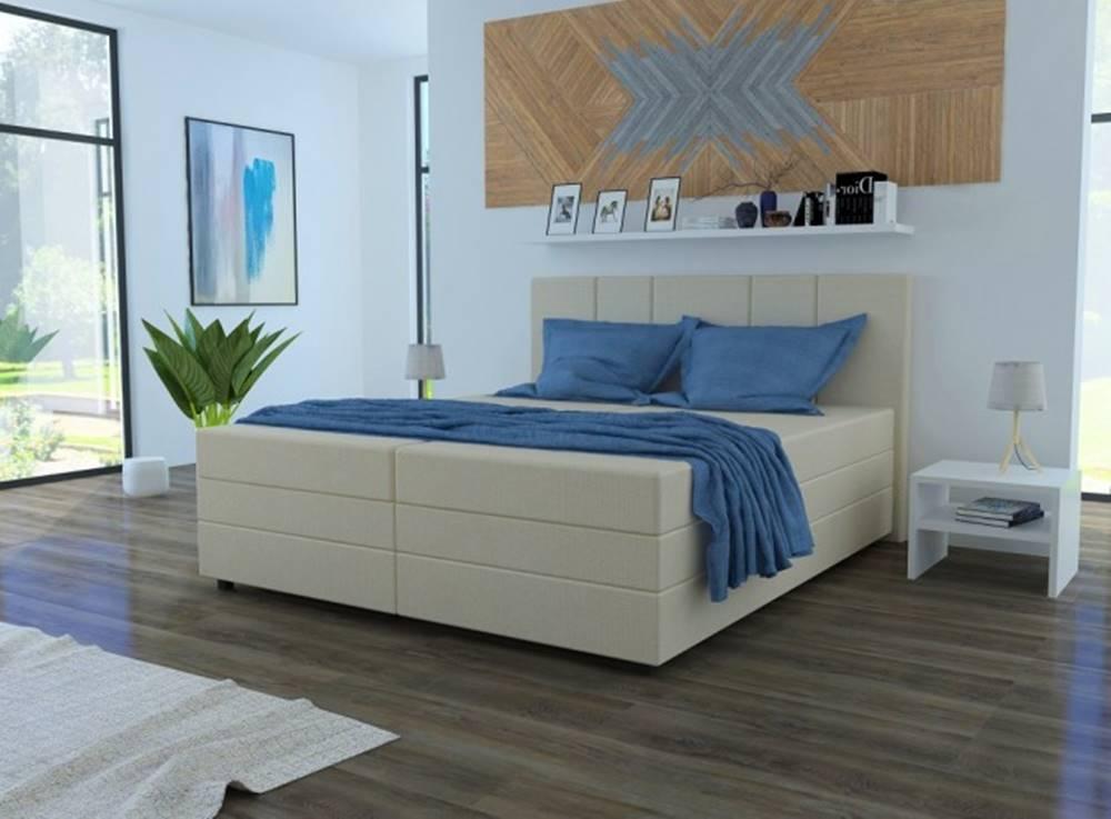 OKAY nábytok Čalúnená posteľ Alexa 180x200, vr. matraca a úp, béžová