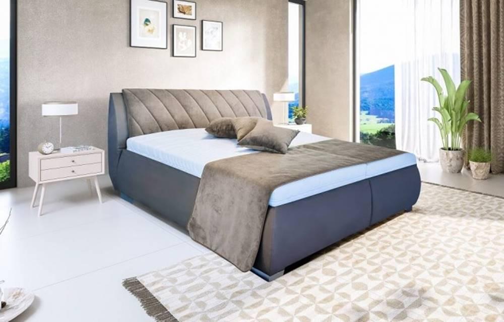OKAY nábytok Čalúnená posteľ Grosseto 180x200 vrátane matracov,pol.roštu a úp