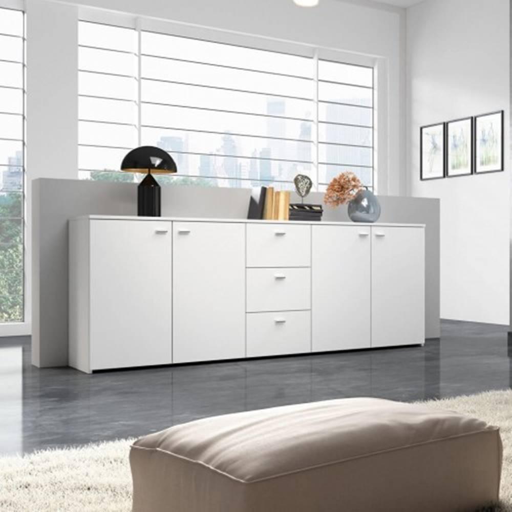 OKAY nábytok Hugo - Komoda, 4x dvere, 3x zásuvka