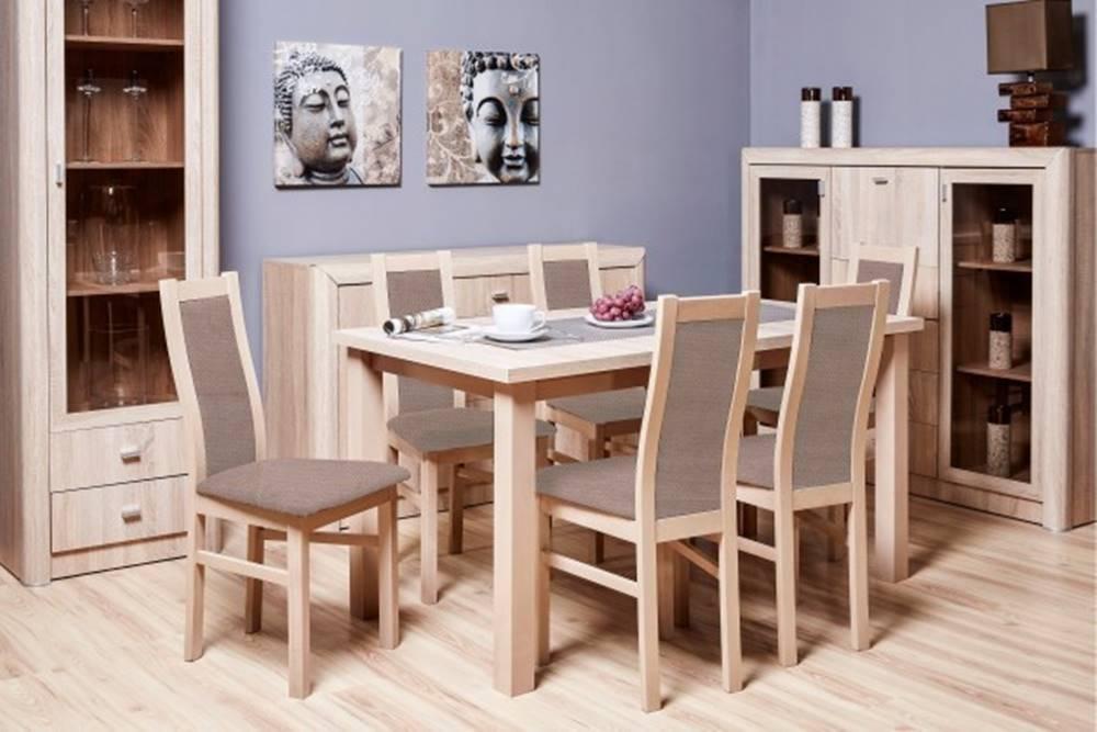 OKAY nábytok Agáta - Set 6x stolička, 1x stôl + rozklad