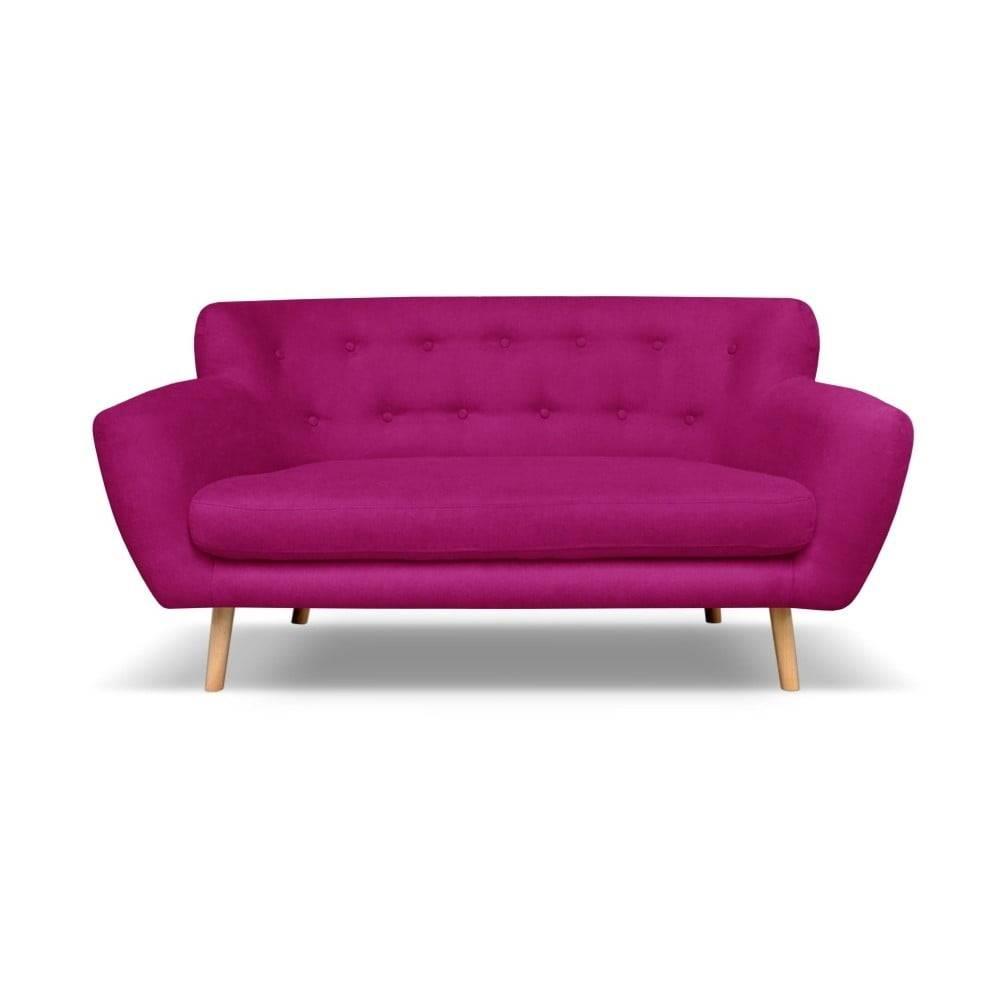 Cosmopolitan Design Tmavoružová pohovka Cosmopolitan dizajn London, 162 cm