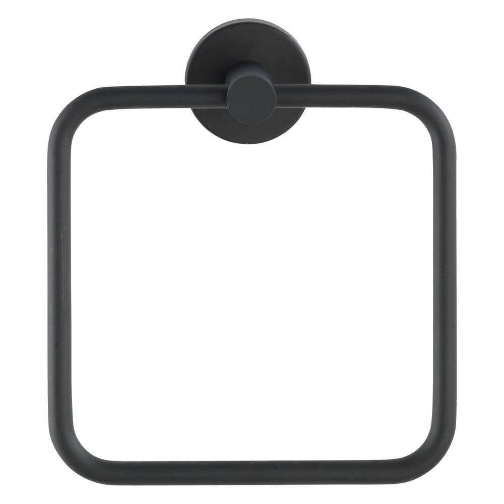 Wenko Antikoro čierny nástenný držiak na uteráky Wenko Mezzano Ring