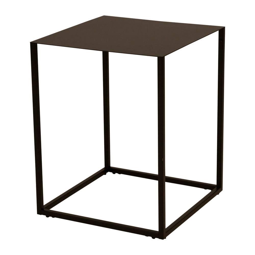 Canett Čierny kovový odkladací stolík Canett Lite, 40 x 40 cm
