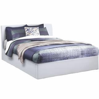 Manželská posteľ s úložným priestorom biela 180x200 KERALA poškodený tovar