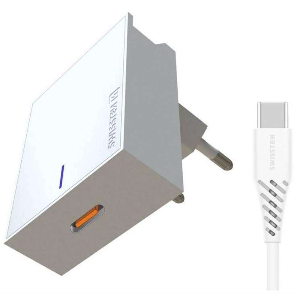 Swissten Nabíjačka do siete Swissten USB-C, 25W, Super Fast Charging + USB-C