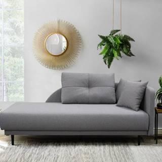 Leňoška Ize s úložným priestorom, pravá strana, sivá
