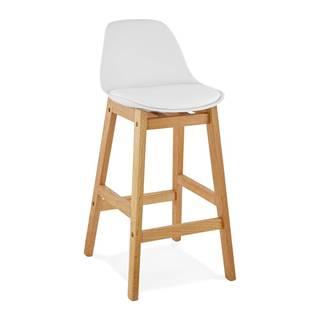 Biela barová stolička Kokoon Elody, výška 86,5 cm