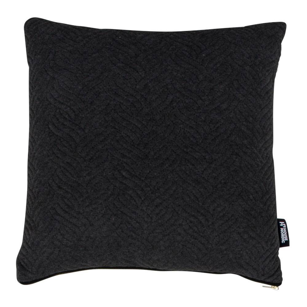 House Nordic Čierny vankúšik HoNordic Ferrel, 45 × 45 cm