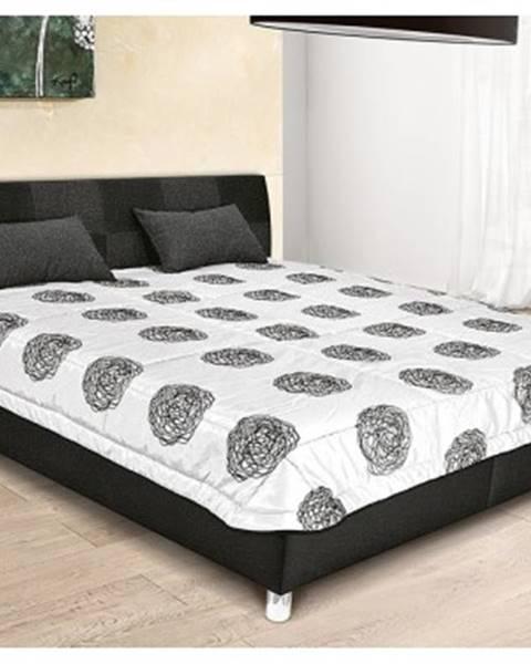 Čierna posteľ ASKO - NÁBYTOK
