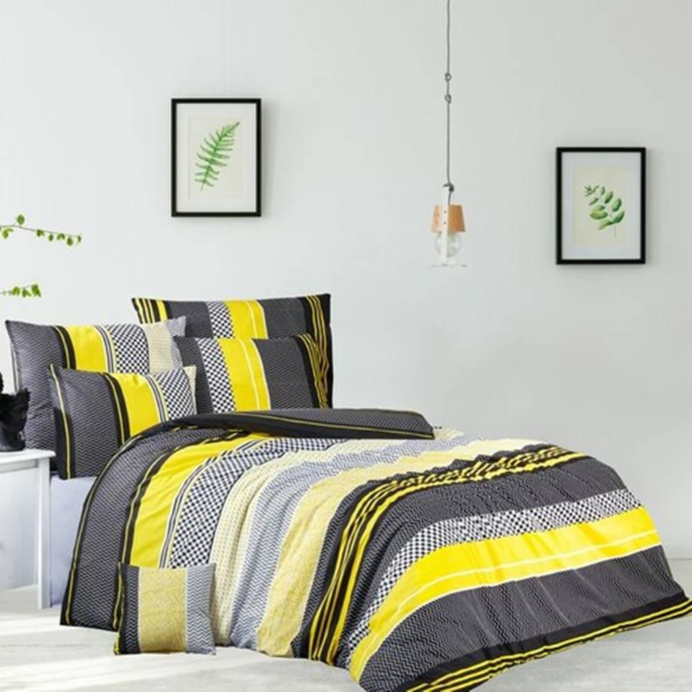 BedTex BedTex Bavlnené obliečky Zigo žltá, 140 x 200 cm, 70 x 90 cm