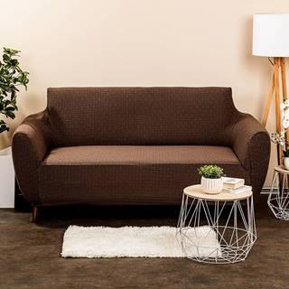 4Home Multielastický poťah na sedačku Comfort Plus hnedá, 140 - 180 cm, 140 - 180 cm