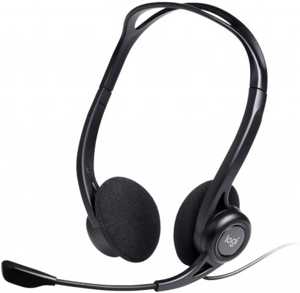 Logitech Slúchadlá s mikrofónom Logitech Corded PC 960, čierne
