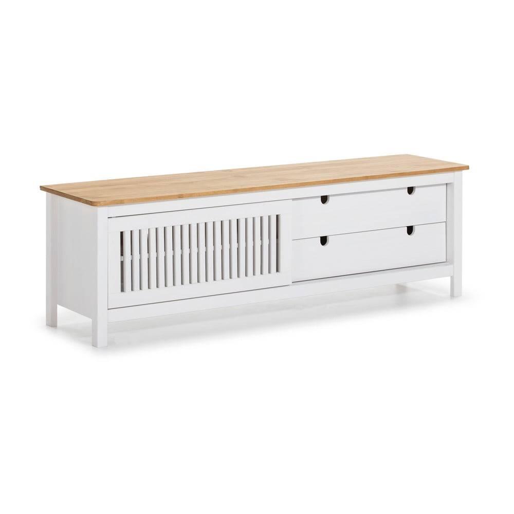 Marckeric Biely drevený TV stolík Marceric Bruna