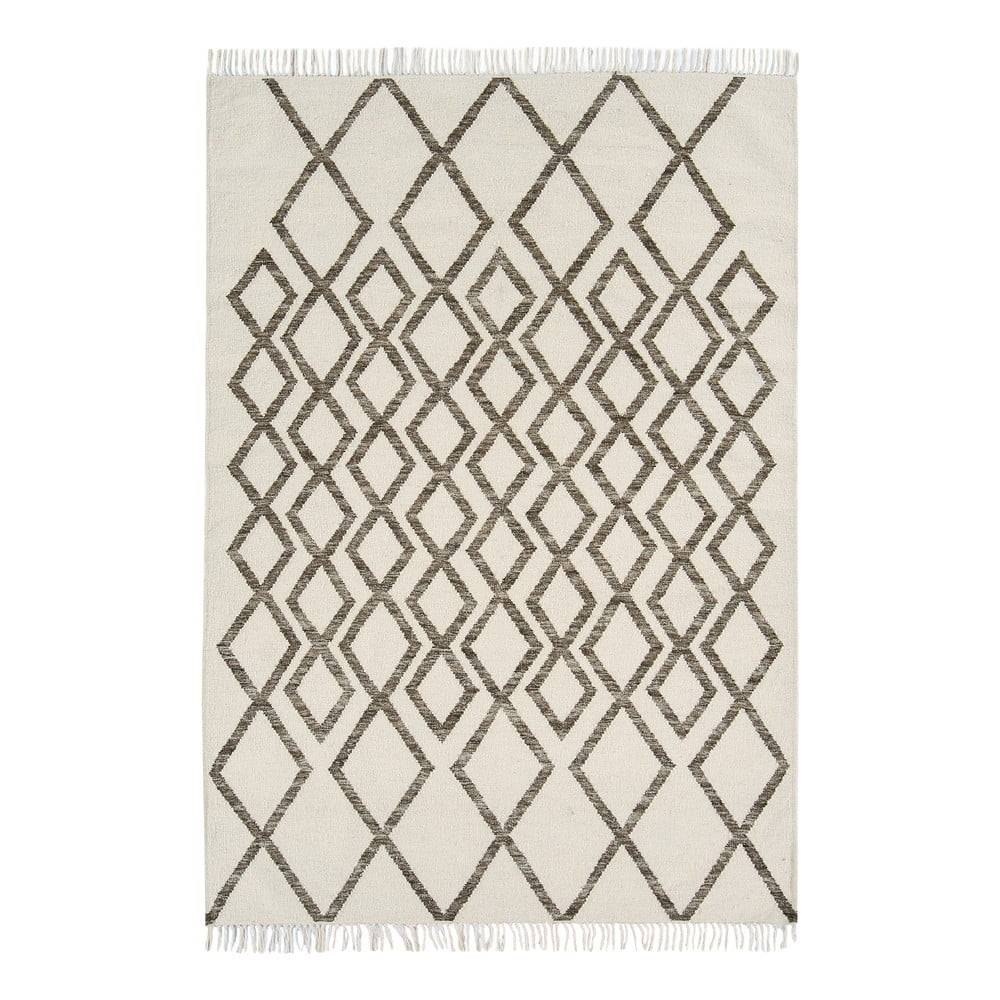 Asiatic Carpets Béžovo-sivý koberec Asiatic Carpets Hackney Diamond, 160 x 230 cm